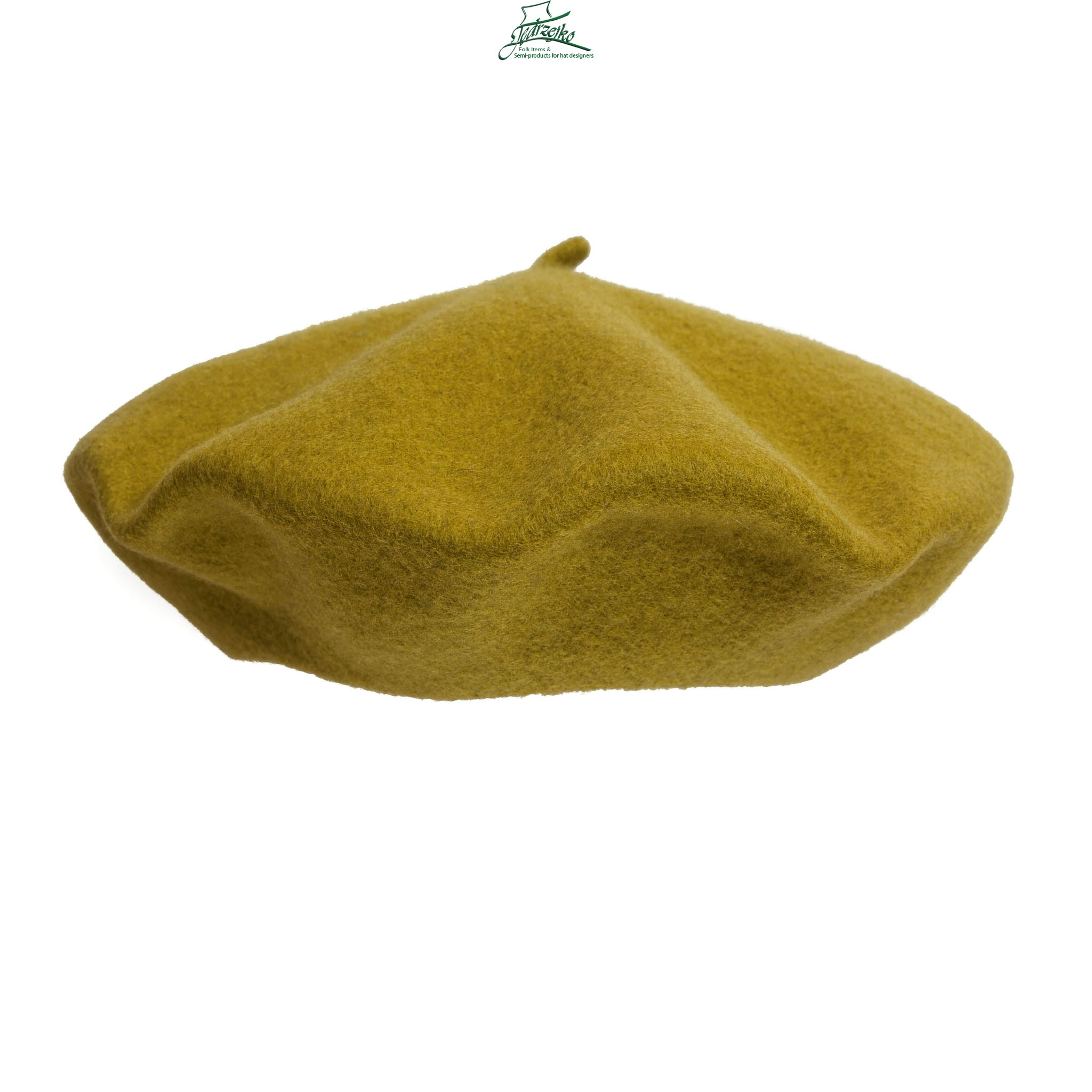 30913b0a 100% Wool beret with antenna - Olive Millinery Hat Supply & HandMade ...