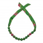Folk necklace corals - Green