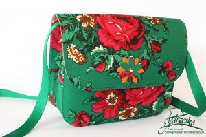 Folk shoulder bag - large - Green
