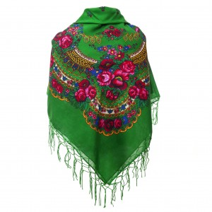 Polish Folk Scarf - Green