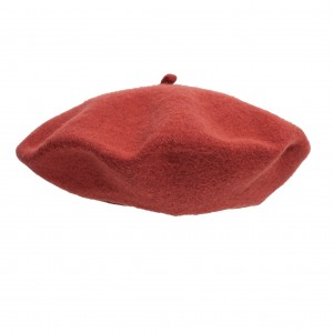 100% Wool beret with antenna - Ginger