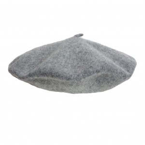 100% Wool beret with antenna - Melange