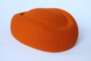 Pillbox boat fascinator - Orange