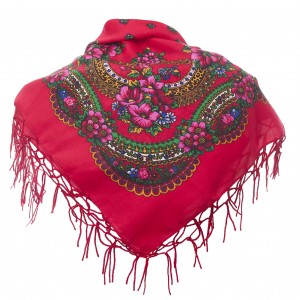 Polish Folk Scarf - Red