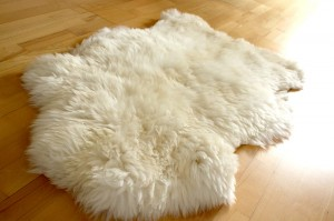 Large Merino Skin - White