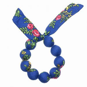 Folk handame  bracelet - Blue