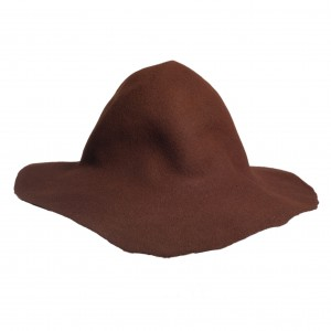 Wool Felt Capeline - Brown