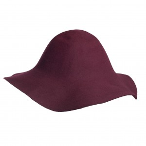 Wool Felt Capeline - Bordeaux