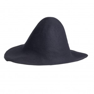 Wool Felt Capeline - Dark Grey