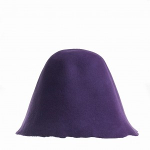 Wool Felt Hood - Purple