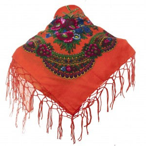 Polish Folk Scarf - Orange