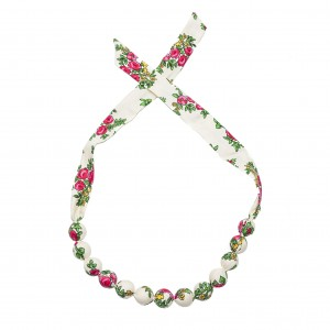 Folk necklace corals - White