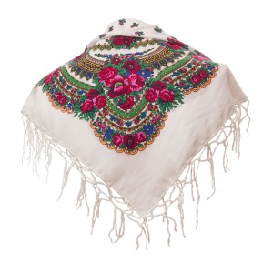 Polish Folk Scarf - White
