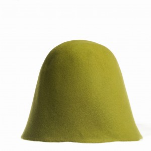 Wool Felt Hood - Grass Green