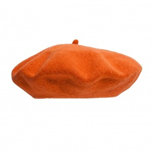 Wool beret HALLOWEEN edition - Orange/Pumpkin
