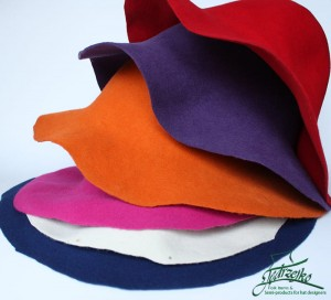 Set of Wool Felt Capelines 6pcs. - Colourful