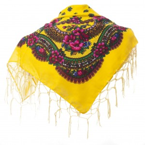 Polish Folk Scarf - Yellow