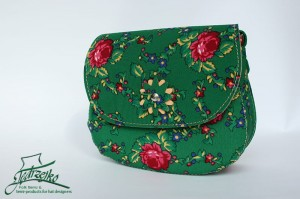 Folk shoulder bag - medium - Green
