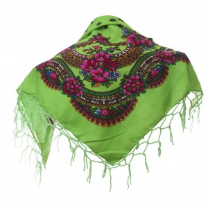 Polish Folk Scarf - Light strong green