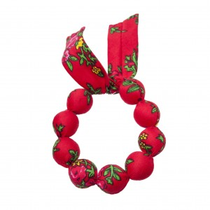 Folk handame  bracelet - Red
