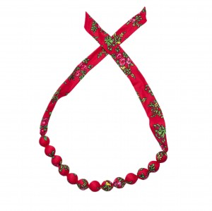 Folk necklace corals - Red
